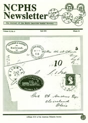 North Carolina Postal History Society Newsletter