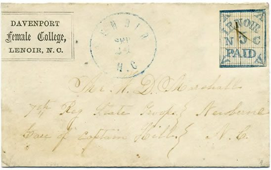 Lenoir (Caldwell Co.) Sept. 21, 1861